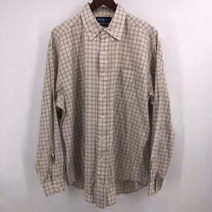 Ralph Lauren shirt button up plaids and checks